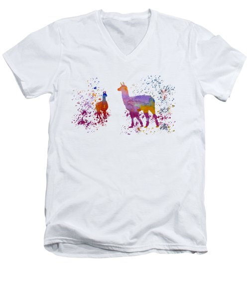 Llamas Men's V-Neck T-Shirt