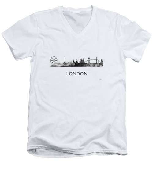 London England Skyline Men's V-Neck T-Shirt