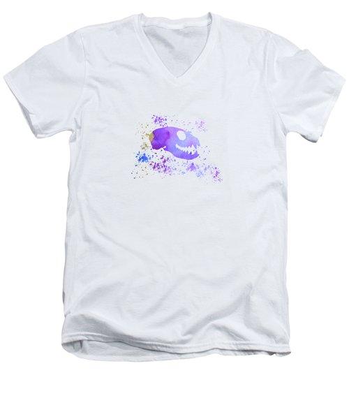 Meerkat Skull Men's V-Neck T-Shirt