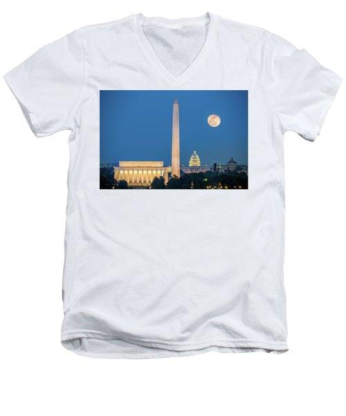 4 Monuments Men's V-Neck T-Shirt