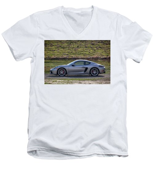 #porsche #718cayman S #print Men's V-Neck T-Shirt