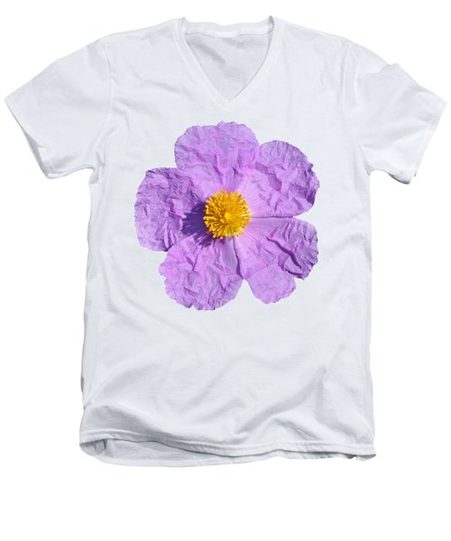 Rockrose Flower Men's V-Neck T-Shirt