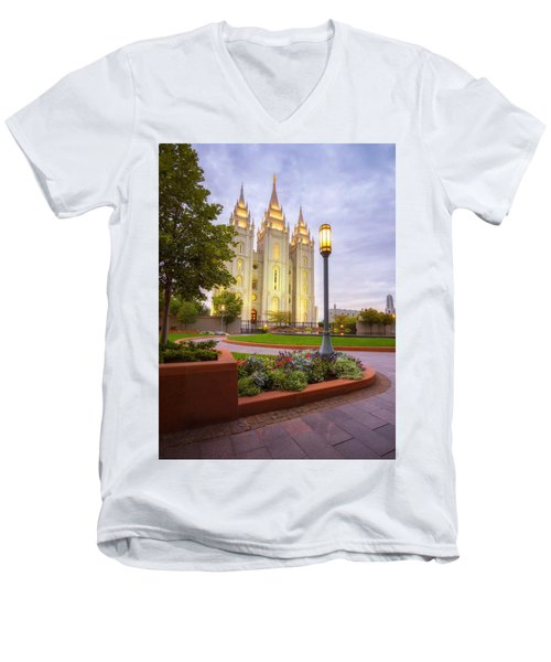Salt Lake Temple Men's V-Neck T-Shirt