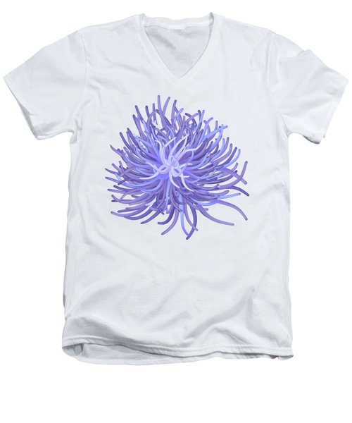 Sea Anemone Men's V-Neck T-Shirt by Michal Boubin