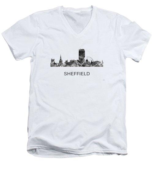 Sheffield England Skyline Men's V-Neck T-Shirt