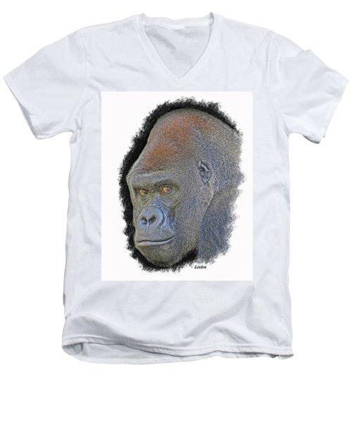 Silverback Men's V-Neck T-Shirt