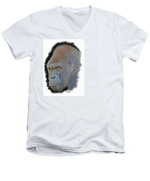 Silverback Men's V-Neck T-Shirt