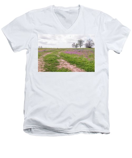 Texas Wildflowers 3 Men's V-Neck T-Shirt
