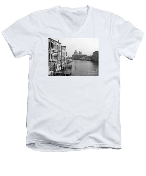 The Grand Canal In Venice Men's V-Neck T-Shirt