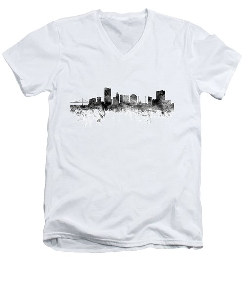 Toledo Ohio Skyline Men's V-Neck T-Shirt