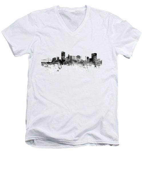 Toledo Ohio Skyline Men's V-Neck T-Shirt
