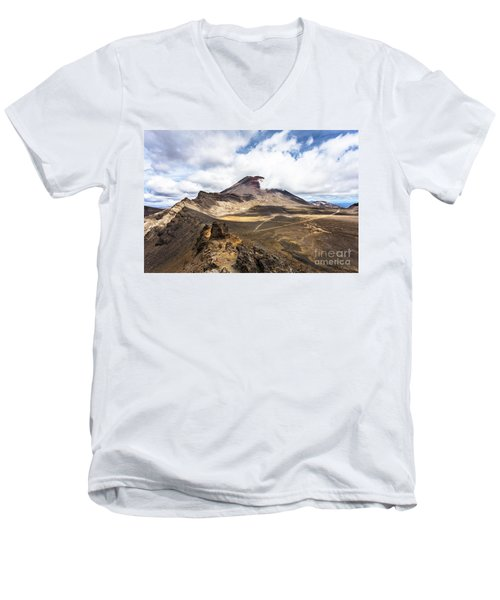 Tongariro Alpine Crossing In New Zealand Men's V-Neck T-Shirt