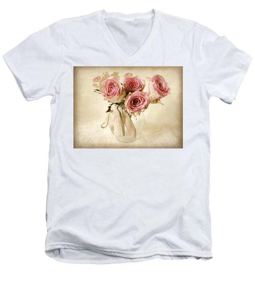 Vintage Bouquet Men's V-Neck T-Shirt