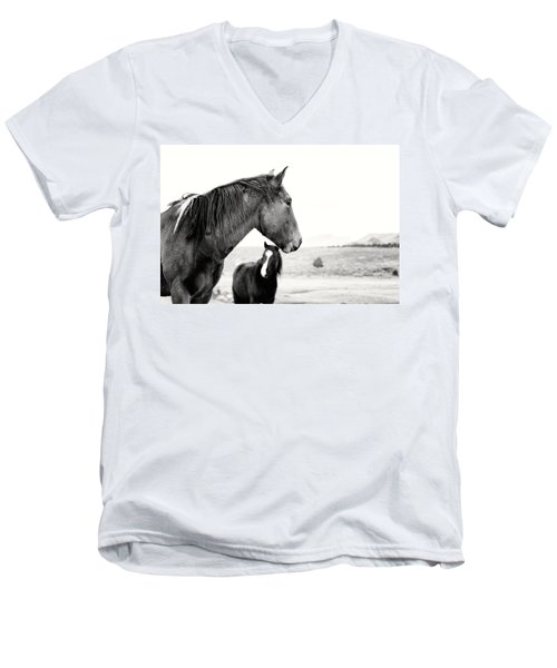 Virginia Range Mustangs Men's V-Neck T-Shirt