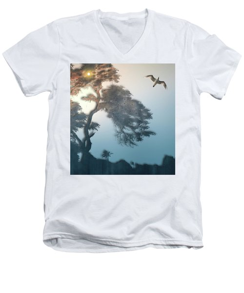 Men's V-Neck T-Shirt featuring the photograph 4408 by Peter Holme III