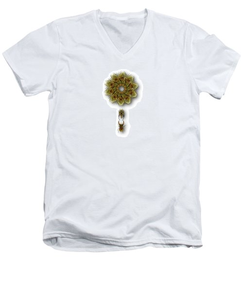 Men's V-Neck T-Shirt featuring the photograph 4421 by Peter Holme III