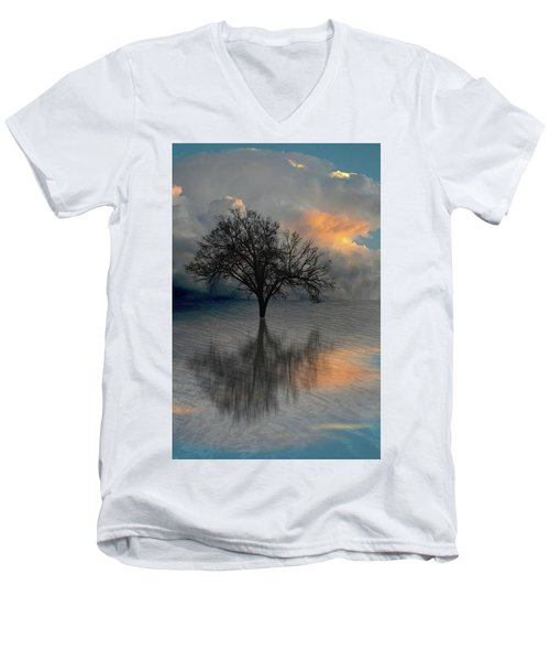 Men's V-Neck T-Shirt featuring the photograph 4507 by Peter Holme III
