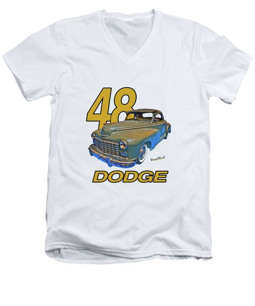 48 Dodge 3 Window Business Coupe Men's V-Neck T-Shirt