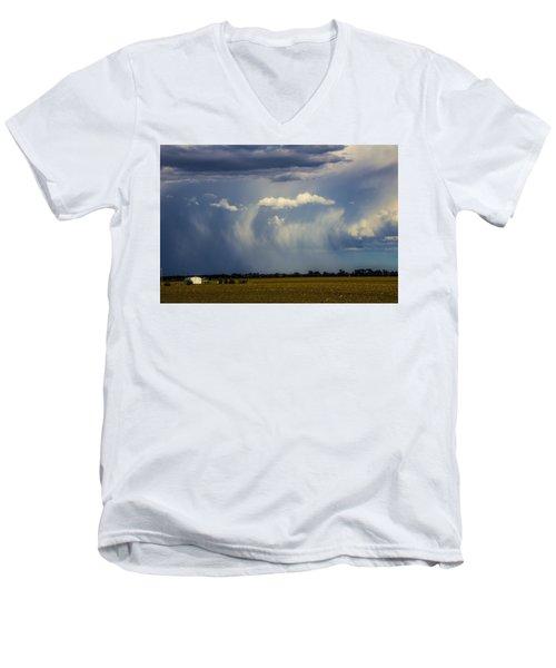 Afternoon Nebraska Thunderstorm Men's V-Neck T-Shirt