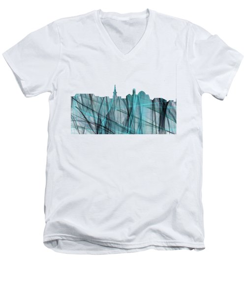 Alexandria Virginia Skyline Men's V-Neck T-Shirt