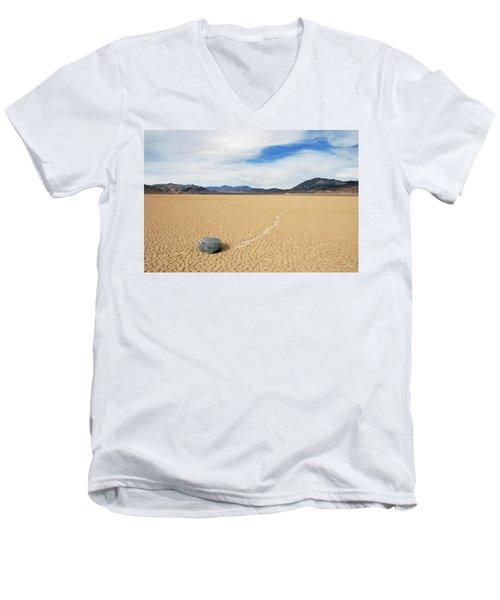 Death Valley Racetrack Men's V-Neck T-Shirt