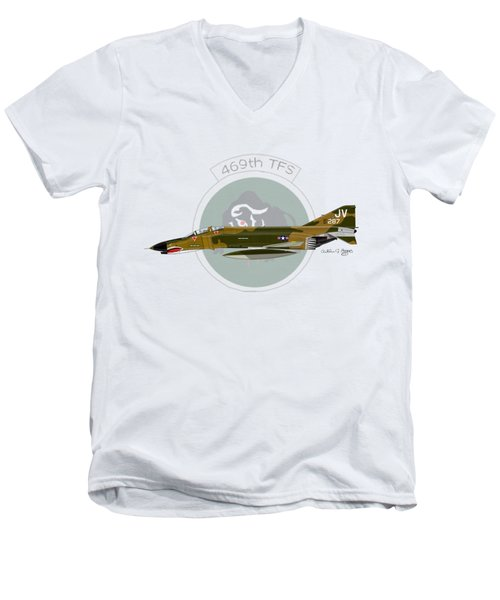 F-4e Phantom II Men's V-Neck T-Shirt