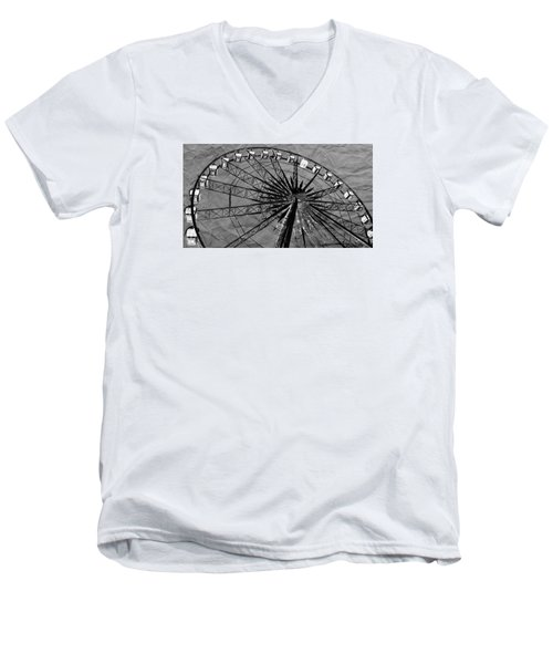 Men's V-Neck T-Shirt featuring the photograph Ferris Wheel Impressions by Werner Lehmann