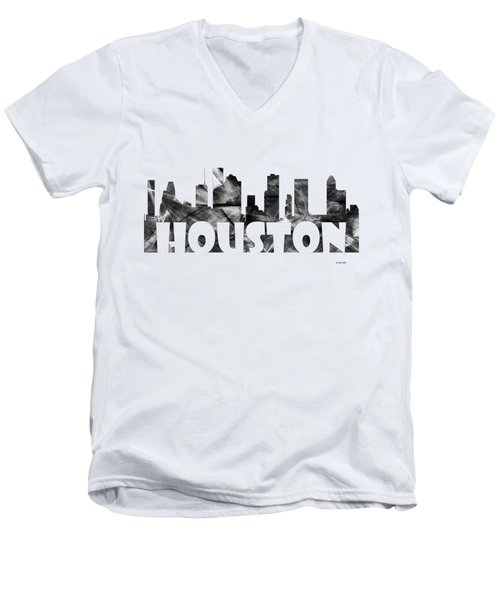 Houston Texas Skyline Men's V-Neck T-Shirt