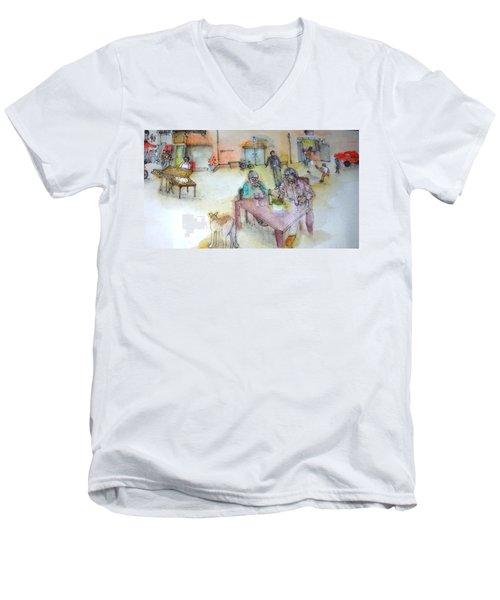 Italy Love Scroll Men's V-Neck T-Shirt