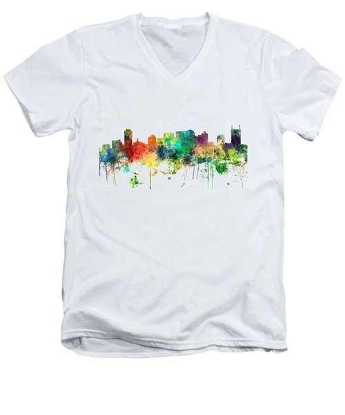 Nashville Tennessee Skyline Men's V-Neck T-Shirt