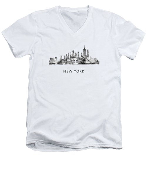 New York New York Skyline Men's V-Neck T-Shirt