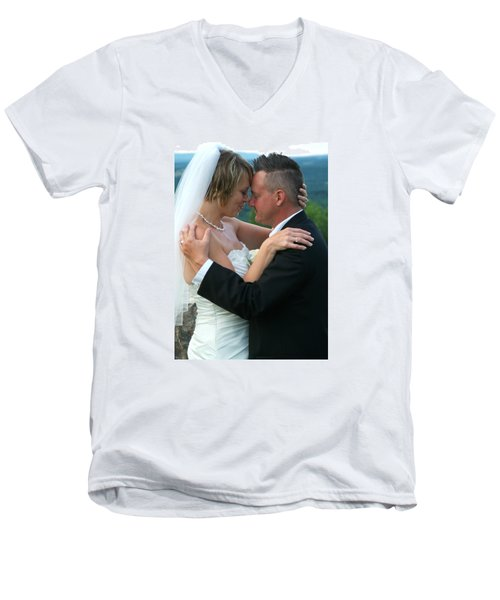 Rebecca And David Men's V-Neck T-Shirt