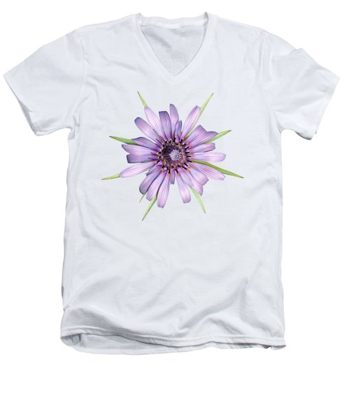 Men's V-Neck T-Shirt featuring the photograph Salsify Flower by George Atsametakis