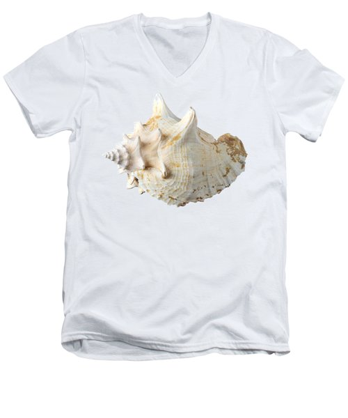 Men's V-Neck T-Shirt featuring the photograph Sea Shell by George Atsametakis
