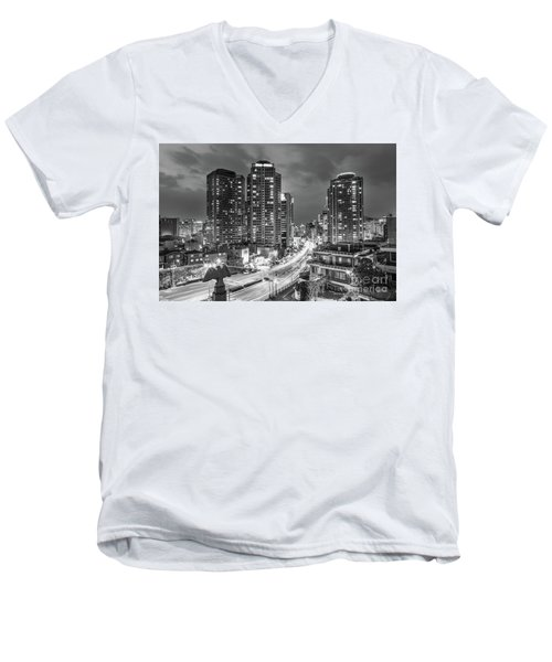 Seoul Night Rush Men's V-Neck T-Shirt