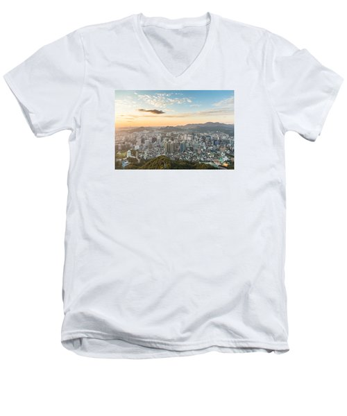 Sunset Over Seoul Men's V-Neck T-Shirt