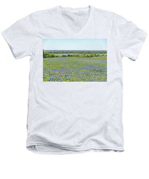 Texas Bluebonnets 10 Men's V-Neck T-Shirt