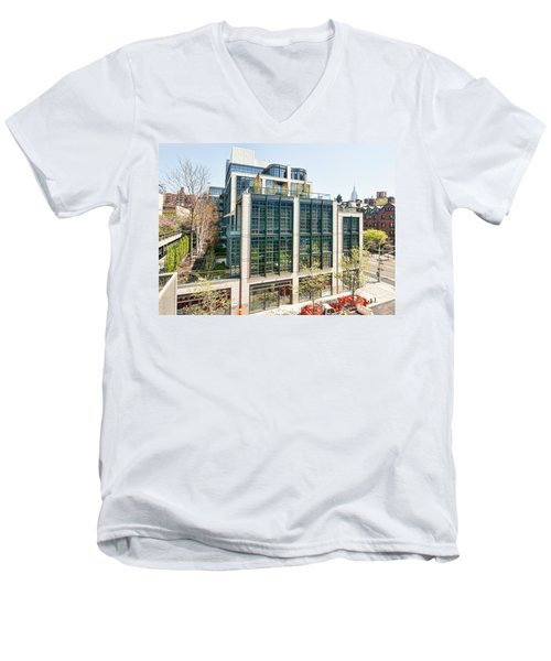500 W 21st Street 3 Men's V-Neck T-Shirt
