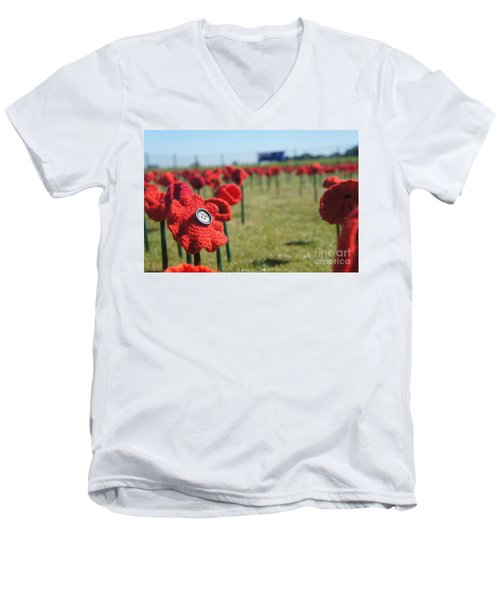 5000 Poppies Men's V-Neck T-Shirt by Therese Alcorn