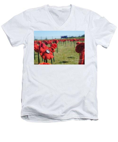 5000 Poppies Men's V-Neck T-Shirt