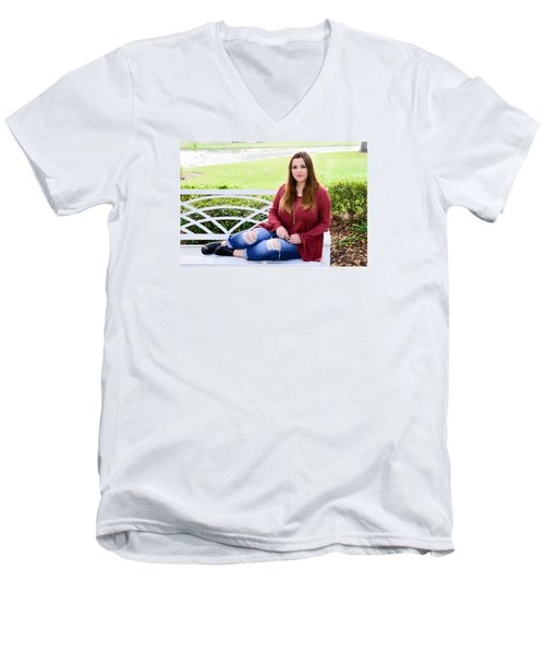 Men's V-Neck T-Shirt featuring the photograph 5554 by Teresa Blanton