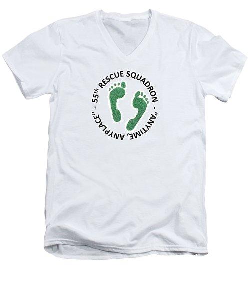 55th Rescue Squadron Men's V-Neck T-Shirt