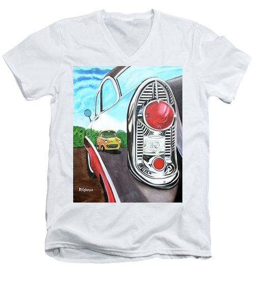 56 Chevy Reflections Men's V-Neck T-Shirt