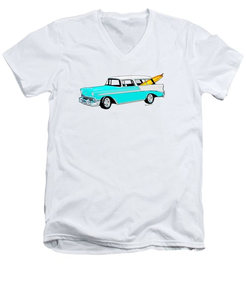 56 Nomad By The Sea In The Morning With Vivachas Men's V-Neck T-Shirt