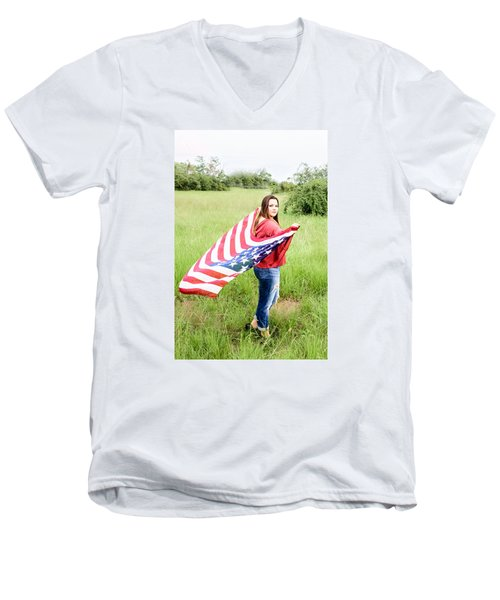 Men's V-Neck T-Shirt featuring the photograph 5644-2 by Teresa Blanton