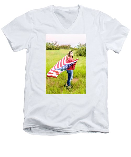 Men's V-Neck T-Shirt featuring the photograph 5644 by Teresa Blanton