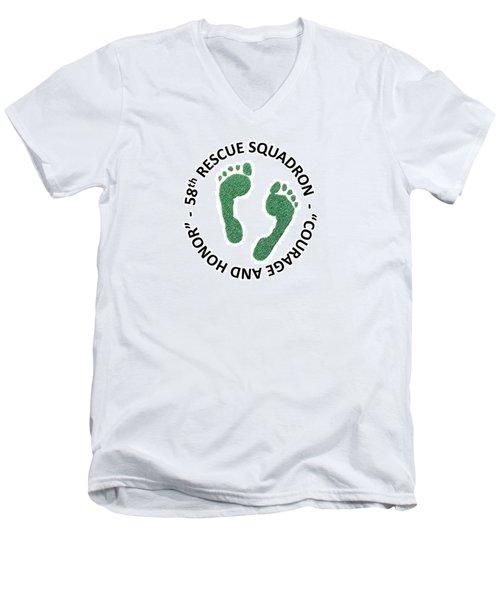 58th Rescue Squadron Men's V-Neck T-Shirt
