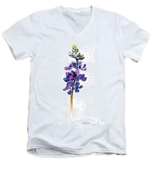 5x7auto Lupine Men's V-Neck T-Shirt