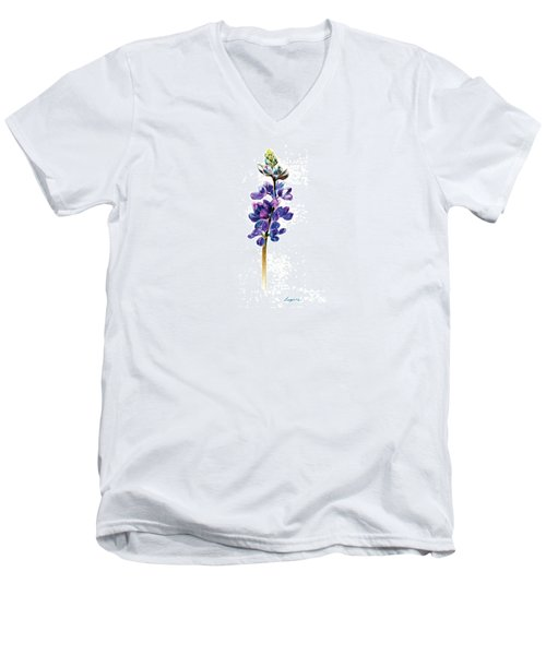 5x7auto Lupine Men's V-Neck T-Shirt