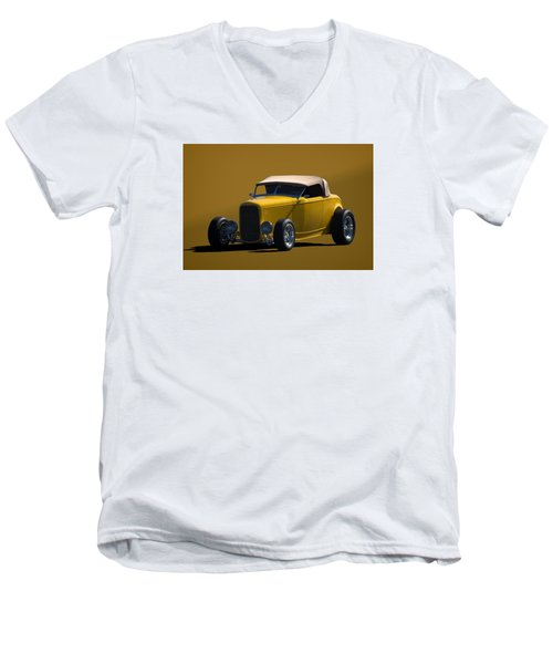 1932 Ford Roadster Hot Rod Men's V-Neck T-Shirt by Tim McCullough